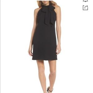 Vince Camuto Crepe Bow Halterneck Dress
